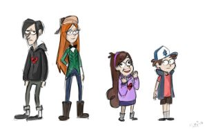 Gravity Falls (simple sketches) by DymasyaSilver