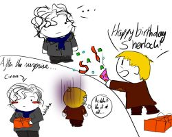 Sherlock's B-day by XDeidaraXD
