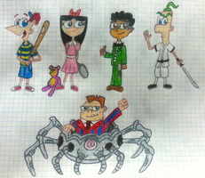 Phineas and Ferb - EarthBound Style! :D by Romulan64