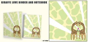 Giraffe Kawaii Notebook and Binder by Jessimie