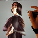 Snape in progress (and crying) by IreneMartini