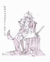 The Wolf that Fell in Love with Red Riding Hood by usarei