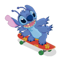 Skateboarding Stitch by WingsOfNightfall