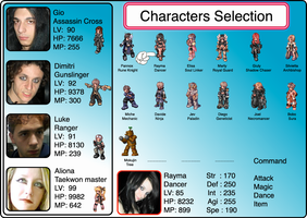 Character Select by GIOVANNIMICARELLI