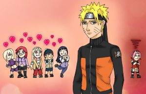 Naruto fans and sakura colored by Faeries-And-Phantoms