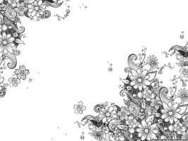 INKED FLOWER WALLPAPER by springloaded