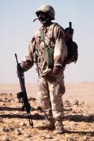 Saudi Soldier with G3 by saudi6666