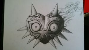 Tattoo-comission of Majoras mask by TheUglyBlowfly