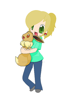 Me and Eevee by LovelyDreamer3192012