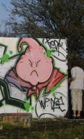 Buu in the street by dadouX