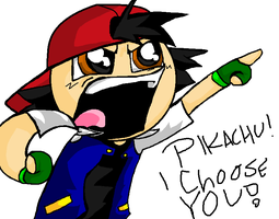 Pikachu I Choose You! - Ash Ketchum by TigerLove566