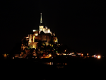 Mont Saint Michel by night by Cyrkael
