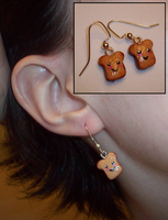 Happy Toast Earrings by UniqueTreats