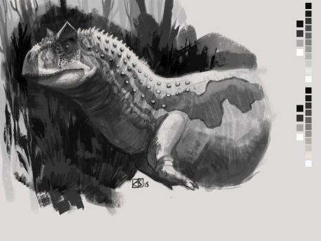 Carnotaurus Sketch by Gorgonzola