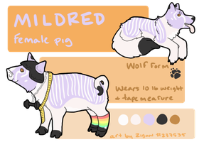Mildred Ref Sheet Commission by zigan-with-felines
