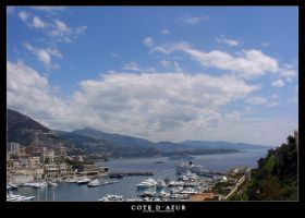 View from the hill in Monaco by LunaticDesire