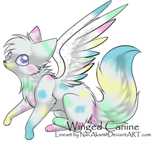Winged Canine Adoptable 3 (Open!) by Bayflight