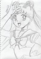 Sailor Moon pose close-up by Fighter4luv