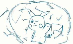 Pikachu Sketch by CartoonDude95