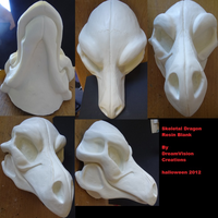 Skeletal Dragon mask by DreamVisionCreations
