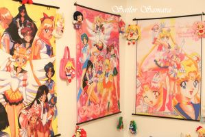 Sailor Moon Collection *Scrolls and Plushies* by SailorSamara