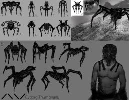 !NEW! Cyborg Study (Thumbnails) by ViceNoctis