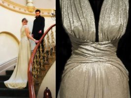 Gold Evening gown by TessWhitfort