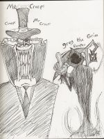 Mr Creeps and Greg the Grim Reaper by TheInfamousJoeLinder