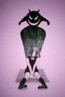 Girl with glittery shadow by ihni