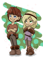Addie and Finn :colored: by trujayy