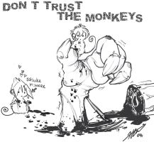 Dont Trust The Monkeys by cheenot