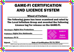 Wheel of Fortune Game-Fi Certificate by LevelInfinitum