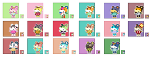 Animal Crossing Pixel Avatars- Cubs by Maareep