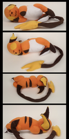 Sleeping Raichu Plushie by Mermade4u