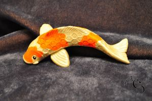 Koi fish sculpture by CoreyChiev