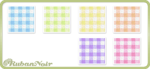 Rainbow Small Checks Pattern by Lady-Himiko