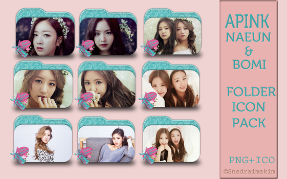 Apink Bomi and Naeun Folder Icon Pack by SNSDraimakim