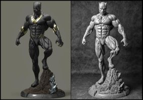 Black Panther commission by AYsculpture