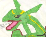 Rayquaza, The Sky Dragon by DragonessBlue