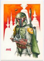 Boba Fett on Cloud City by Erik-Maell