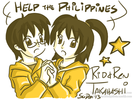 Help the Philippines - Takahashi Twins by SLiDER-chan