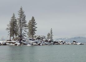 Sand Harbor Snow by MartinGollery