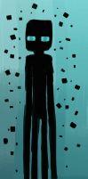 blue-eyed enderman by PinkieCupcake