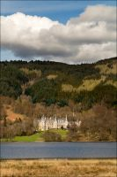 Loch Achary and Hotel by paulblythe