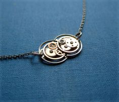 """Gear Pendant """"Time Machine"""" by AMechanicalMind"""