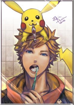 Pokemon Go - tooth-brushing time. by davidmccartney