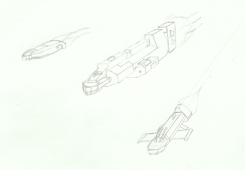 Sketch Dump 1 - Various Ships by Scout29