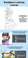Coloring tutorial by KimsSpace