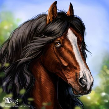 Icon commission: horse by Azany