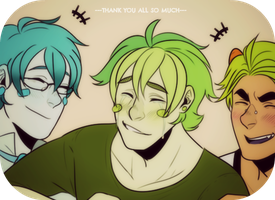 Thank you guys~! by SourBein